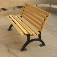 塑木公园椅
